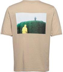 m stowaway tee t-shirts short-sleeved beige peak performance