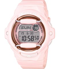 baby-g women's analog-digital pink resin strap watch 43mm
