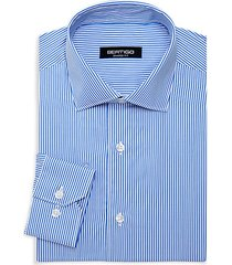 shaped-fit striped dress shirt