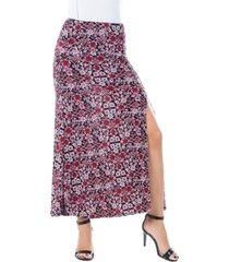 women's plus size floral print ankle length skirt