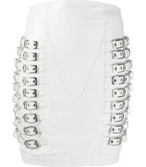 manokhi tannia buckled skirt - white