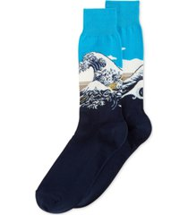 hot sox men's socks, great wave