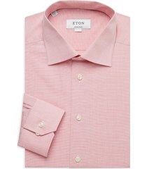 eton men's contemporary-fit cotton & linen dress shirt - pink red - size 16
