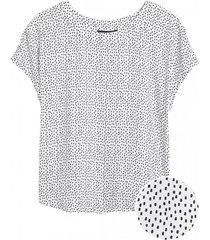 blusa drapey top blanco banana republic