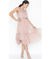 anaya gathered tulle midi dress loose fit