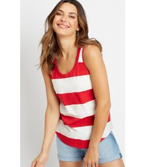 maurices womens 24/7 red striped tank top