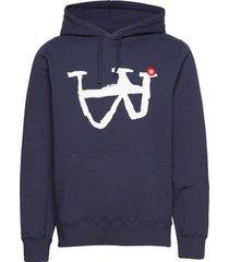ian hoodie hoodie trui blauw wood wood