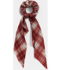 maurices womens burgundy plaid scrunchie scarf red