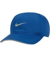 boné aba curva nike featherlight run - strapback - adulto - azul