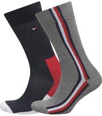 th men iconic hidden sock 2p underwear socks regular socks grå tommy hilfiger