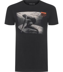 t-shirt masculina vintage color maderite dive - preto