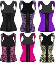 2016 new women latex rubber waist training body shaper cincher underbust corset