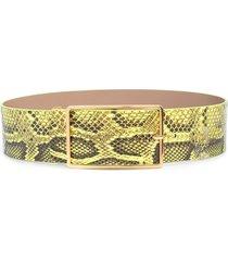 b-low the belt snakeskin-effect belt - yellow