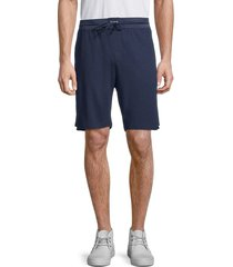 boss hugo boss men's premium logo shorts - blue - size xxl