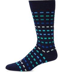 multi grid mid-calf socks