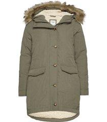 anf womens outerwear parka lange jas jas groen abercrombie & fitch
