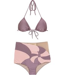 adriana degreas nautilus bikini set - purple