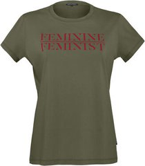 t-shirts classic t-shirt |  army green and red - l