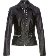 giacca in similpelle con borchie (nero) - bpc selection premium