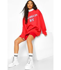oversized brooklyn sweater, rood