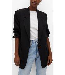 mango structured flowy suit jacket