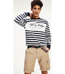 tommy hilfiger men's cool organic cotton sweatshirt desert sky / white - xl