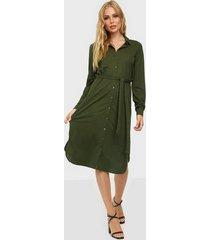 vila visafina midi l/s dress - noos loose fit dresses