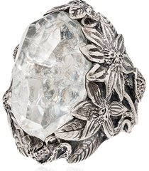 lyly erlandsson crystal large winter ring - silver