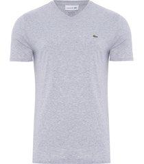 t-shirt masculina v - cinza