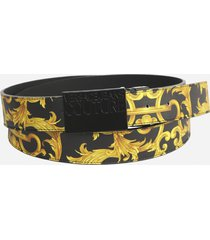 versace jeans couture belt with baroque print