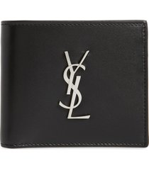 men's saint laurent cassandra leather bifold wallet -