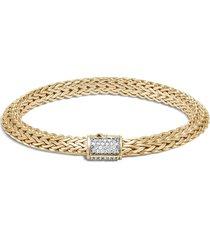 'classic chain' diamond 18k gold tiga chain bracelet
