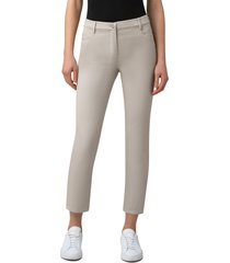 women's akris punto maru slim ankle jeans, size 2 - beige