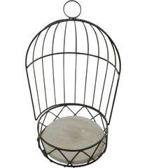 porta vaso kasa ideia gaiola de metal