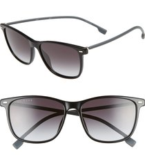 men's boss 56mm sunglasses - black/ grey