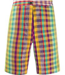 kenneth ize plaid check shorts - yellow