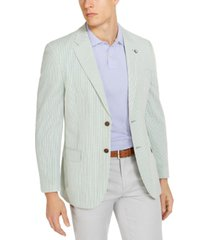 nautica men's modern-fit stretch stripe seersucker sport coat