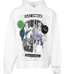 destroyed oversized hoodie sun dance collage