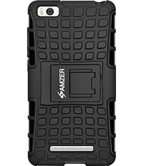 amzer hybrid warrior case - black/ black for xiaomi mi 4i