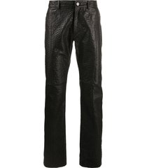1017 alyx 9sm textured straight trousers - black