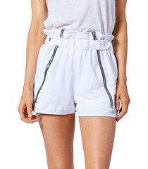 rta women's louie paperbag track shorts - track white - size xxs