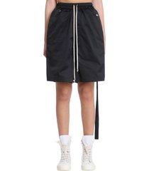 drkshdw faun shorts in black polyester