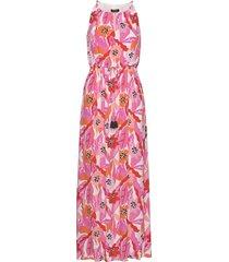 dress woven fabric maxiklänning festklänning rosa taifun