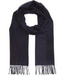 plain fringe cashmere scarf