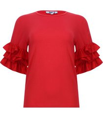 camiseta arandelas color rojo, talla 10