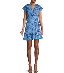 floral-print ruffled mini dress