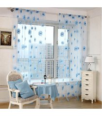 1-2-m-pastoral-floral-scarf-sheer-voile-door-window-curtain-drape-panel-tulle-va