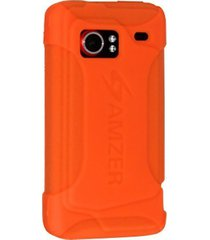 amzer silicone skin jelly case for htc droid incredible pb31200 - orange