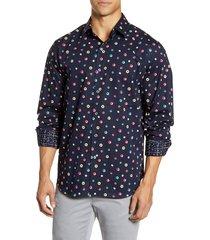 men's bugatchi classic fit button-up shirt