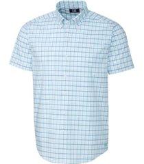 cutter & buck men's soar windowpane short sleeve shirt
